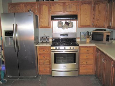 Furnished Kitchen with gas stove. All basic spices. All basic cookware