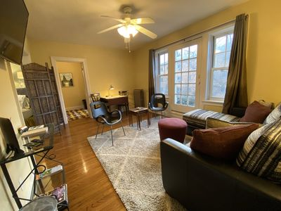Welcome to the Beckmann, a one-bedroom apartment across the street from Tower Grove Park in St. Louis, Missouri (USA).