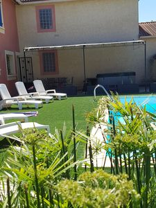Photo for private pool and jacuzzi, singing cicadas and idleness 06. 64. 00. 86. 07