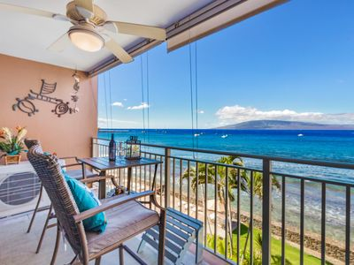 Photo for Incredible Ocean view, direct oceanfront 4th floor condo with A/C, walk to Beach