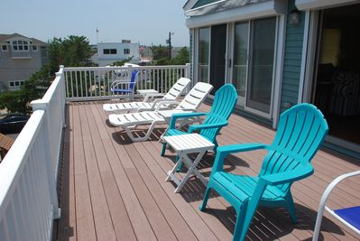 Front Deck (side view -  furniture is facing ocean)