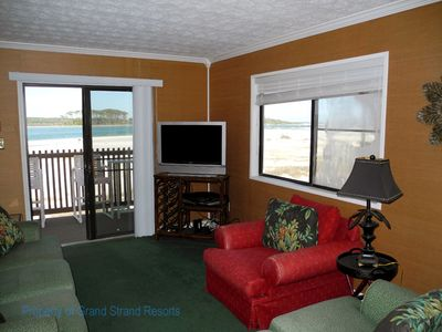 Photo for Inlet Point Villas Unit 4C! Waterway-View 2 Bedroom Condo in Cherry Grove!