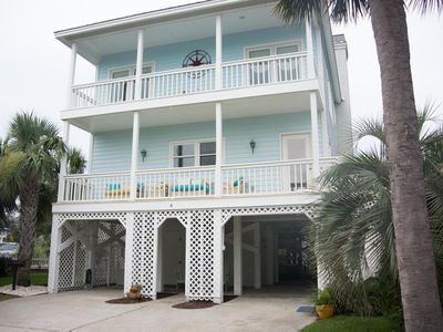 Photo for Ocean views and path to beach make this perfect family beach home + Hot Tub and Golf Cart