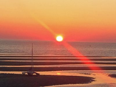 Photo for Huge custom home on Cape Cod Bay-180 degree view- steps to beach - sleeps 8 or10