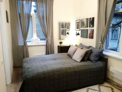 Photo for Riga Čaka Apartment, 15 minutes to the Old Town, Free Parking
