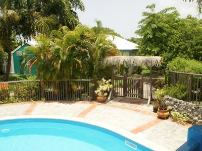 Photo for Bungalows 2 rooms less than 150m walk to a beautiful lagoon cottage ti figs