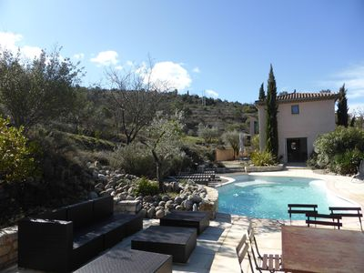 Photo for South Ardèche, Provençal cottage any comfort, Swimming pool, in Ownership in peace