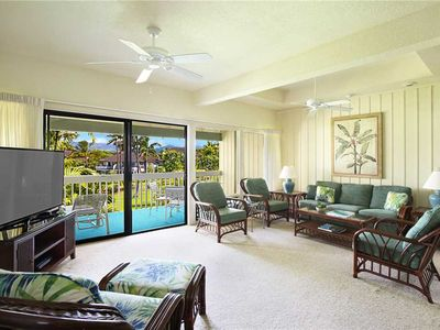 "Photo for Poipu Spacious accommodation up to six vacationers ""A/C Bedrooms"" *Manualoha 805*"