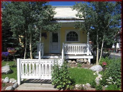 Photo for Romantic Willoughby Cottage for 2  on Main Street, Steps to Gondola/Ski i