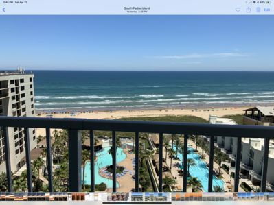 Beautiful view of luxury property and gorgeous Gulf from condo balcony!