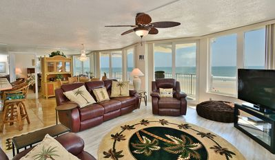 Photo for Oceanfront Condo*Non-Driving Beach*Pool*Free Wifi/Parking*Bikes*Beach Equipment.