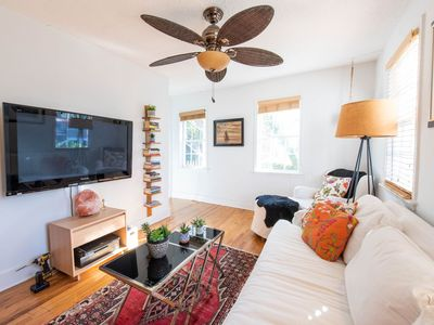 Photo for Charming ground floor, garden-style apartment two blocks from Marion Square!
