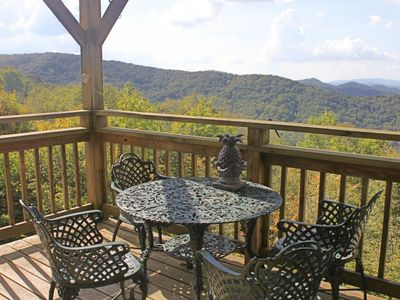Photo for Two story condo w/spectacular views of Beech & Sugar Mountains and TWO balconies