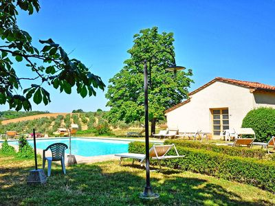 Photo for Lovely apartment for 4 guests with WIFI, pool, TV, panoramic view and parking