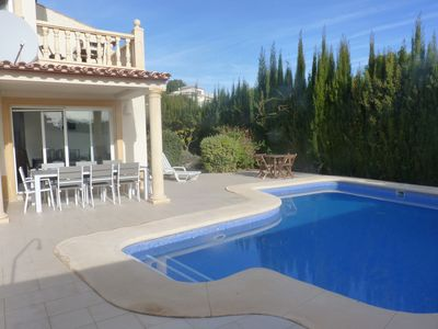 Photo for Nicely furnished villa with private swimming pool within walking distance of the sea