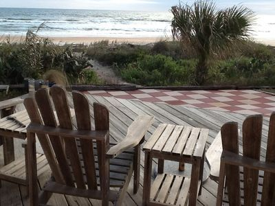 Photo for Private Oceanfront Beach House- steps from traffic-free beach. Family Friendly!