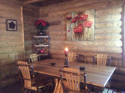 Intimately rustic Dining Corner (partial view)