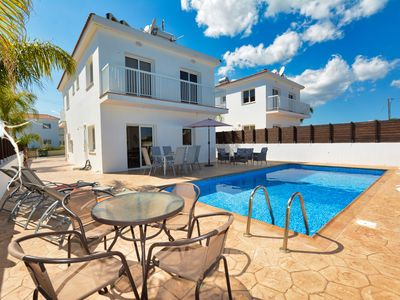 Photo for Luxury 4 Bedroom villa -3 minutes walking distance from the famous Nissi Beach