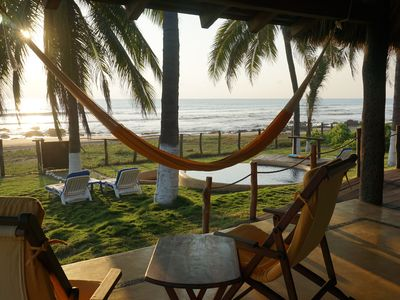 Photo for Beachside Palapa in Majahua beach, next to Troncones, Ixtapa region