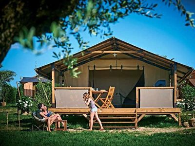 Photo for Camping Les Truffières *** - Kenya Lodge Tent 3 Rooms 5 People