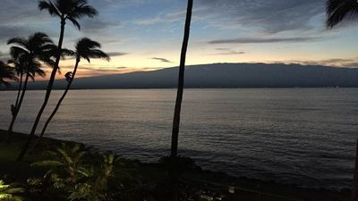 Photo for Waterfront Property , just remodeled.    Whale watching from lanai in season.