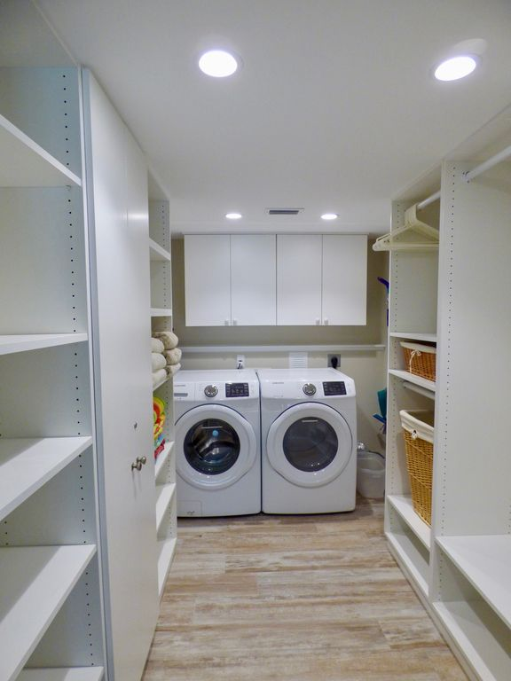 New Samsung Front Load Washer/dryer In Walk In Master BR Closet