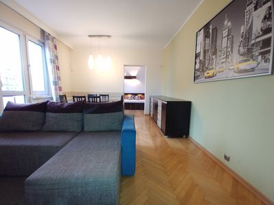 Photo for Gdansk Center Oldtown, 3-rooms apartment full equiped, balcony, WiFi, cable TV