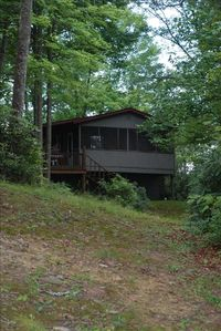 Nestled on 25 acres the cabin allows safe but private seclusion
