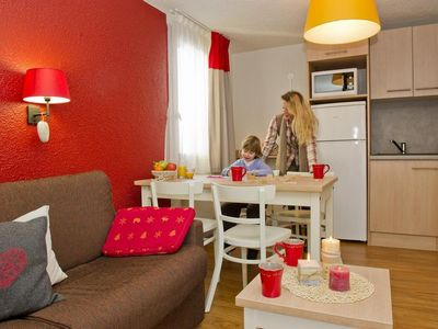 Photo for Surface area : about 30 m². Living room with bed-settee. Bedroom with 4 bunk beds