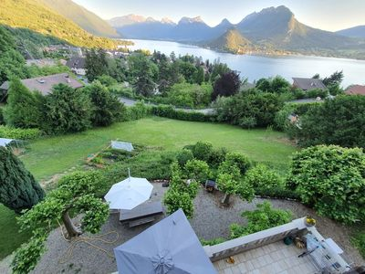 Photo for Superb villa with 180 ° panoramic view of lake and mountains
