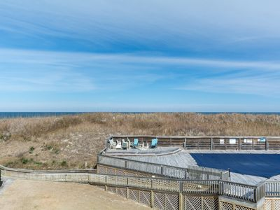 Photo for Shoenthal: 3 bedroom, oceanfront townhome, community pool and tennis court, just steps to the beach!