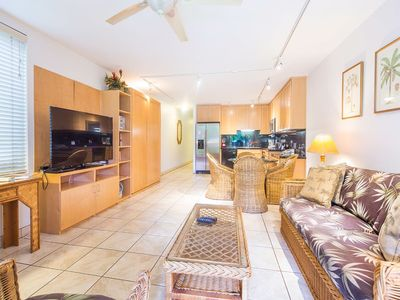 Photo for Open-Style Ground Floor Suite w/Modern Kitchen, WiFi, Lanai–Kamaole Sands 1107