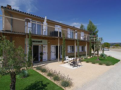 Photo for Village-chalets near Millau open all year.
