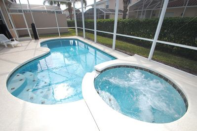 Bubbling spa can be heated separately from the pool for added comfort.  inquire with our wonderful team for additional details.