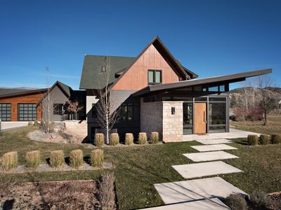 Photo for Modern Luxury Home w/ Fireplace, Incredible View of Mt. Sopris! Central Location