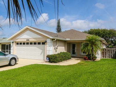 Photo for Contemporary dog-friendly home, w/fenced yard, & only one block from the beach!