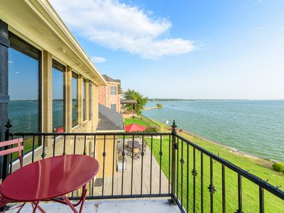 Photo for Lakefront, elegant, private fishing, walk to beach & restaurant- 5 bedrooms