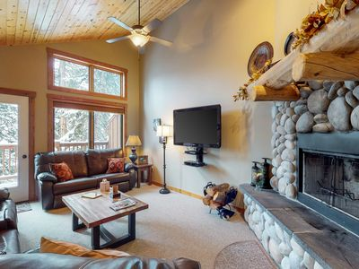 Photo for NEW LISTING! Comfortable condo w/ private hot tub and sauna, 7 miles to skiing