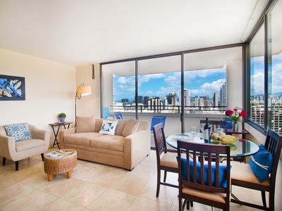 Photo for Ocean Views | 31st Floor Penthouse in Waikiki | WiFi & Parking Included