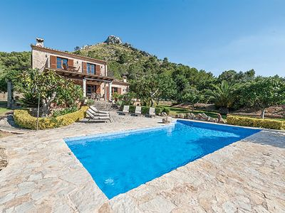 Photo for 3 bedroom villa w/ countryside views, PS3, private pool, air con & Wi-Fi