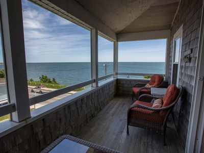 Photo for Oceanfront Large A/C Family-Friendly Home at Falmouth Heights Beach - Cape Cod