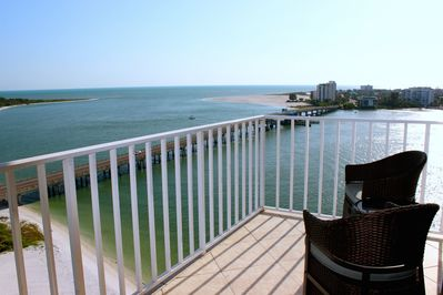Our balcony overlooking Gulf and bay views