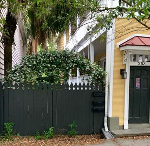 Entry point to garden apartment in the heart of downtown Charleston