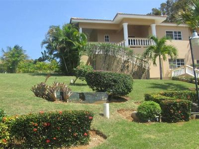 Photo for Hilltop Ocean View Villa w/ Large Pool Walking to Strip and Sosua Beach