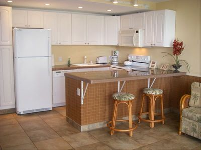 Large reconfigured granite kitchen with Brand New appliances !