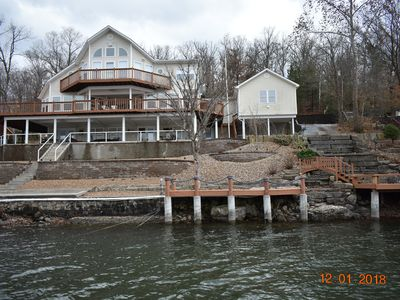 Photo for Beautiful Lake Front Property, Amazing Views and a HUGE Private Dock!!!