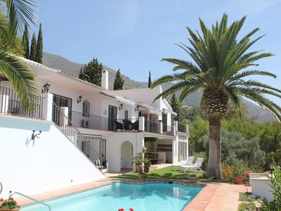 Photo for Delightful villa with stunning views and peaceful  gardens close to Mijas Pueblo