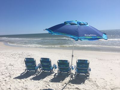 Photo for Amazing views, 50 steps to the water,  Covered porch, Chairs/ Umbrellas