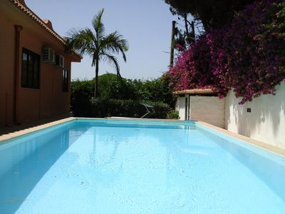 Photo for Beautiful apartment in a villa with swimming pool  in Syracuse
