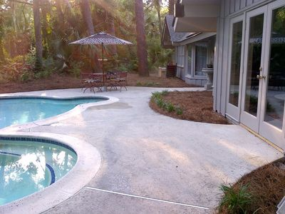 Photo for 250 yards from the Beach with a Private Pool!